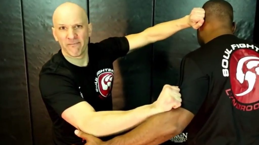 Self Defense Instructor Showing Technique